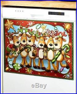 Holiday Reindeer Dishwasher Cover Magnet Seasonal Christmas Home Decor Kitchen
