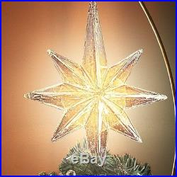 Holiday Thomas Kinkade Moving & Lighted Christmas Tree Topper NEW