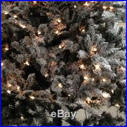 Holiday Time 7.5′ prelit Flocked Birmingham Fir Artificial Christmas Tree White