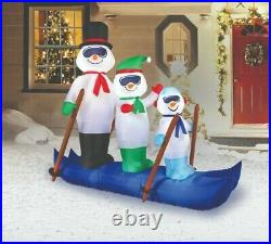 Holiday Time Christmas Yard Inflatables Snowmen on Skis, 6 ft FREE SHIPPING
