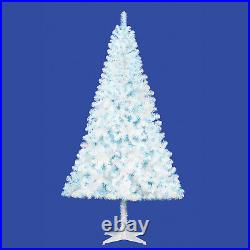 Holiday Time Pre-Lit 6.5′ Madison Pine White Artificial Christmas Tree blue