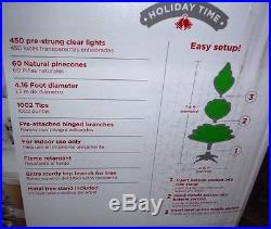 Holiday Time Pre-Lit 7.5' Winter Frost Pine Artificial Christmas Tree T-38