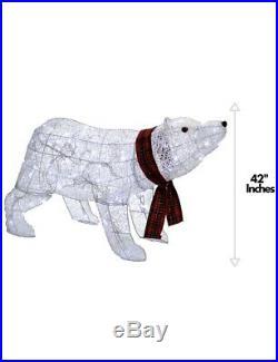 Holiday TwiLED Light Polar Bear Outdoor Christmas Display Decoration 42 Inch