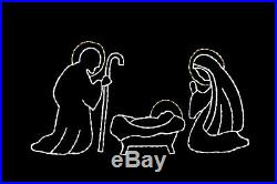Holy Family Nativity LED lights metal wire frame outdoor display decoration