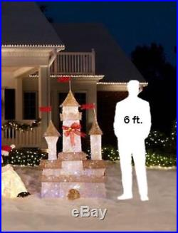 Home Accents 6 Foot Outdoor Twinkling Lights Castle Palace Holiday Yard Decor