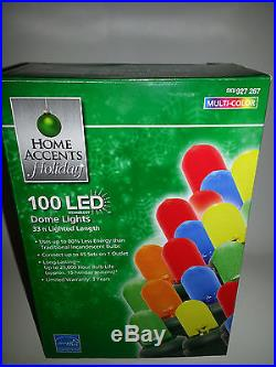 Home Accents Holiday 100 Light Led Multicolor Dome Christmas Valentine Party LOR
