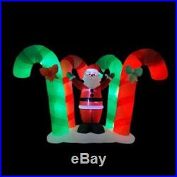 Home Accents Holiday Christmas 9.25 in Candy Cane Forest with Santa Inflatable