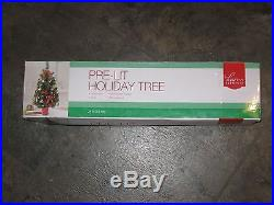 Home Elements Pre-Lit Holiday Christmas Tree 24 NEW IN BOX