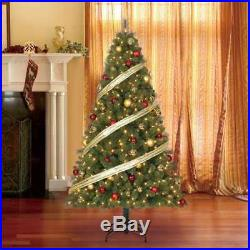 Home Heritage 9′ Artificial Pine Christmas Tree with Color Changing Lights (Used)
