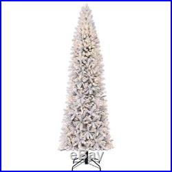 Home Heritage 9' Frosted Alpine Artificial Pre Lit Christmas Tree (Open Box)