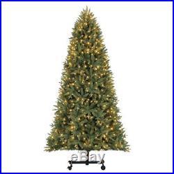 Home Heritage Alaska 7' 9' Grow & Stow Dual Colored Light Christmas Tree