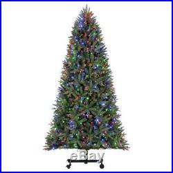 Home Heritage Alaska 7′-9′ Grow & Stow Dual Colored Light Christmas Tree (Used)
