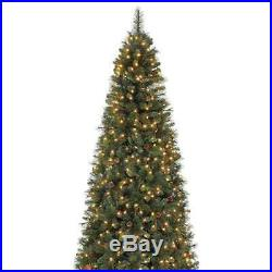 Home Heritage Albany 12' Artificial Christmas Tree with Pine Cones & Stand (Used)
