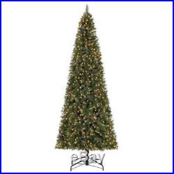 Home Heritage Albany 12′ LED Christmas Tree with Pine Cones & Stand (Open Box)