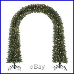 Home Heritage Windham 8′ Artificial Pre-Lit Arched Christmas Tree with Lights