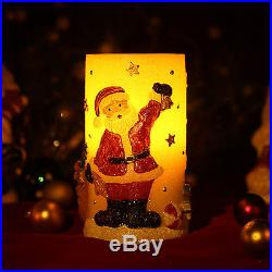 Home Impressions Santa Snowman Tree Pattern LED Candle Light 3x6 Christmas Gift