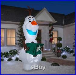 Huge 10.5 Ft Christmas Disney Olaf Animated Airblown Inflatable Yard Decor Gemmy