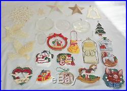 Huge Christmas Lot Figurine Decoration Ornament Glass Ball Santa Angel Sleigh
