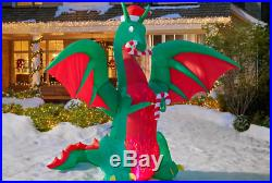 Huge INFLATABLE CHRISTMAS DRAGON NIB 12 Ft AIRBLOWN GEMMY YARD NEW Blow-up