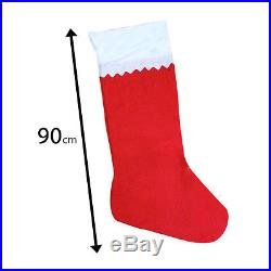 Huge Jumbo Large 90cm Red Christmas Felt Stocking