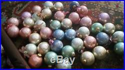 Huge lot 60 Vintage Old Victorian Pastel Pink Blue Gold Christmas Ornaments