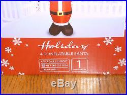 Huntington Home Holiday 4 ft. Tall Inflatable Christmas Santa Decoration NEW