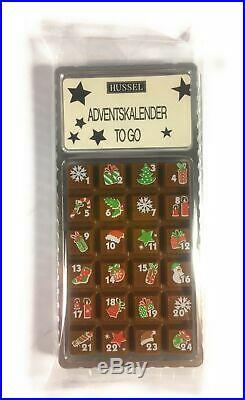 Hussel Adventskalender To Go Vollmilch 30 g Mini Taschenkalender Schokolade