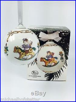 Hutschenreuther Porzellan Weihnachtskugel Kugel 1986 mit Originalverpackung NEU