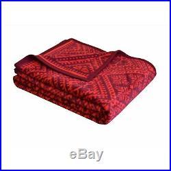 IBENA Classic Scandinavian Design Plush Woven Cotton Blend Throw Blanket Marcala