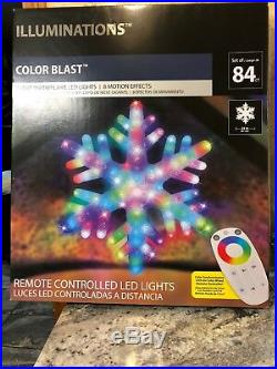 Illuminations 24 Christmas Snowflake Color Blast Remote Controlled LED Lighted