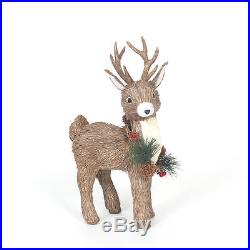 Indoor Christmas Decoration 14.4 Brown Standing Deer Holiday Decor Outdoor Xmas
