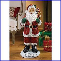 Indoor Christmas Decorations Santa Claus Statue 32 Home Xmas Decor Figurine