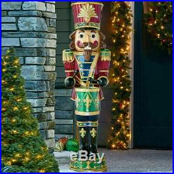 Indoor/Outdoor Christmas 6ft (1.8m) Musical Nutcracker With 34 LED Lights New UK