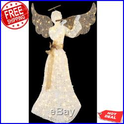 Indoor/Outdoor Christmas Decoration Display LED Lighted Angel 5 ft. With Flute NEW