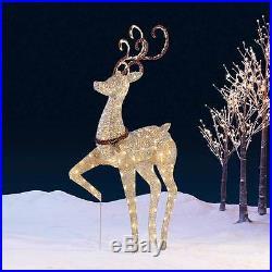 Indoor Outdoor Christmas Prancing Deer 5ft (1.5m) 210 LED Christmas Snow