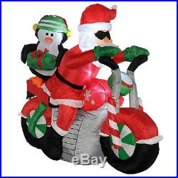 Indoor Outdoor Inflatable Christmas Decoration Xmas Garden LED Lights Santa
