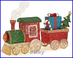 Indoor Outdoor Lighted LED Mesh Train Set Sculpture Christmas Holiday Yard Decor