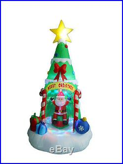 Inflatable Christmas Tree Santa Claus LED Lights 2015 Yard Outdoor Decoration