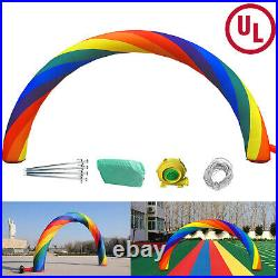 Inflatable Rainbow Arched door Advertising Arch 26ft10ft Holiday Decorat UL