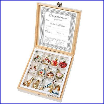 Inge-Glas Christmas Ornaments, Bridal Collection Mini Ornaments Gift Set