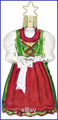 Inge Glas Heirlooms Christmas Dirndl German Glass Bavarian Ornament Made Germany