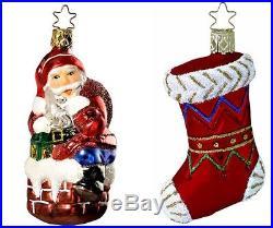 Inge Glas Twas the Night Before Christmas German Glass Ornament Set of 10