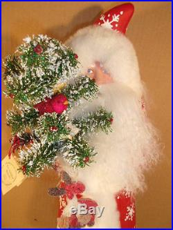 Ino Schaller Paper Mache Santa Extra Large Candy Container