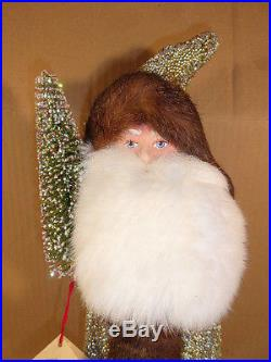 Ino Schaller Paper Mache Santa Large Candy Container