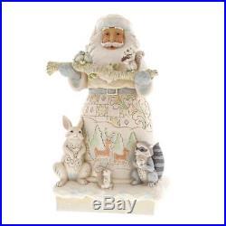 JIM SHORE Heartwood Creek XL Weihnachtsmann Figur NEU/OVP White Santa Statue