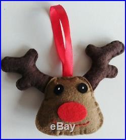 JOB LOT 100pcs HANDCRAFTED felt CHRISTMAS TREE DECORATIONS for craft fair NEW