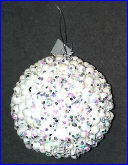 Job Lot White Snow Ball Decoration Display Foam Sequin