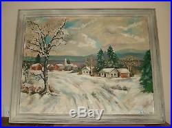 JOSEPH BABAY (Listed Artist 20 TH C) painting Winter Landscape Detroit Painter