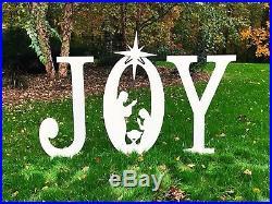 JOY Nativity Sign Display Yard Art Outdoor Holiday Decor