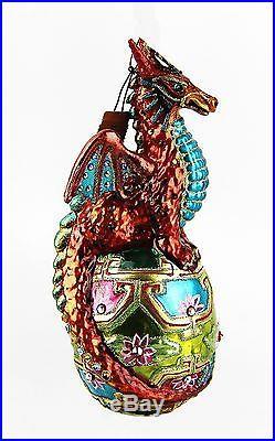 Jay Strongwater Chinioserie Dragon Ornament Swarovski Crystals Brand New Box
